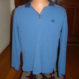 CHAPS Men's Sz M 1/2-Zip Long-Sleeve Blue Pullover